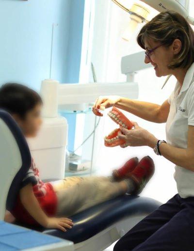 foto paziente piccolo clinica dentale